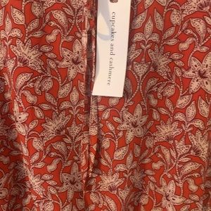 cupcakes and cashmere burnt sienna dress size L